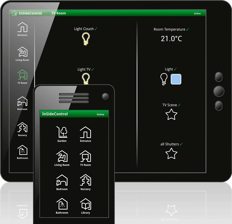 Applications domotique pour téléphone et tablette